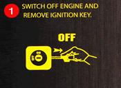 Tắt động cơ và rút khóa ra khỏi ổ (1)