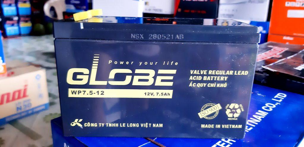 Bình ắc quy Globe 12v 7.5ah WP7.5-12